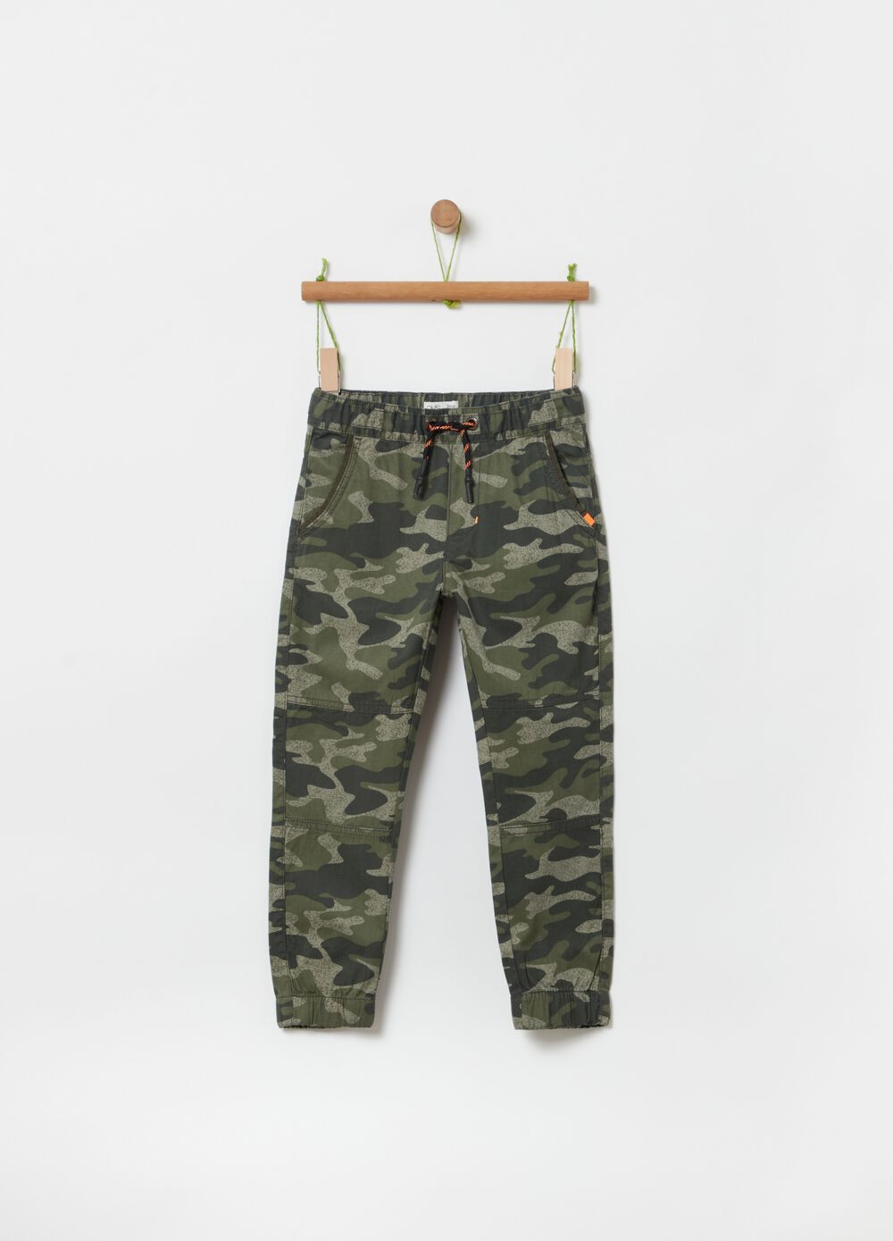 Camouflage jogger trousers