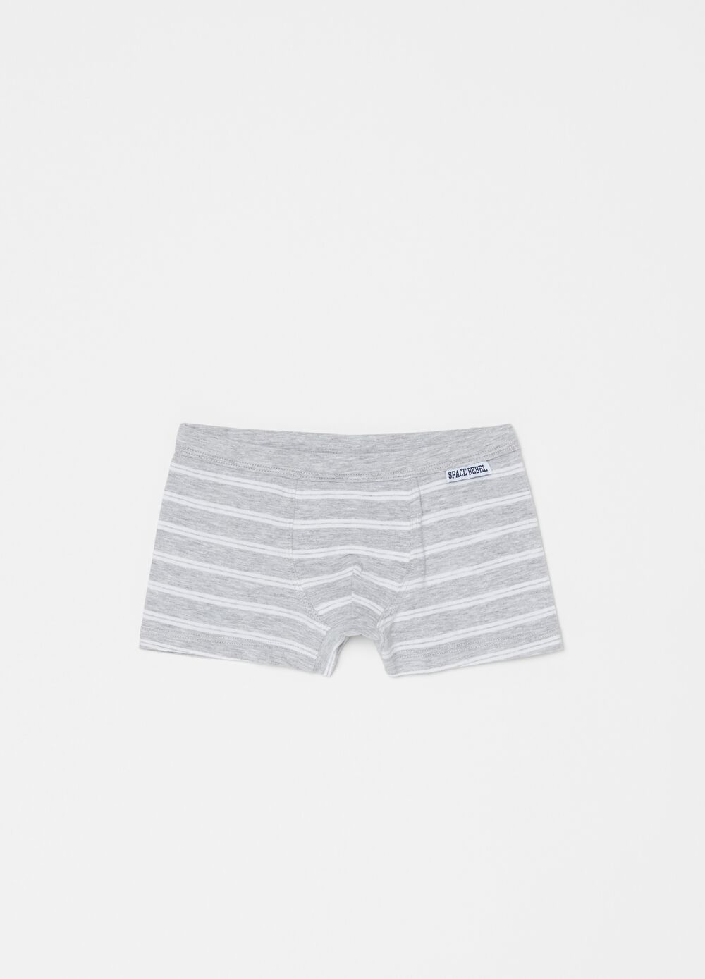 Viscose and organic cotton boxers with stripes