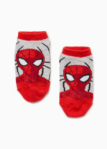 Long Spiderman slipper socks