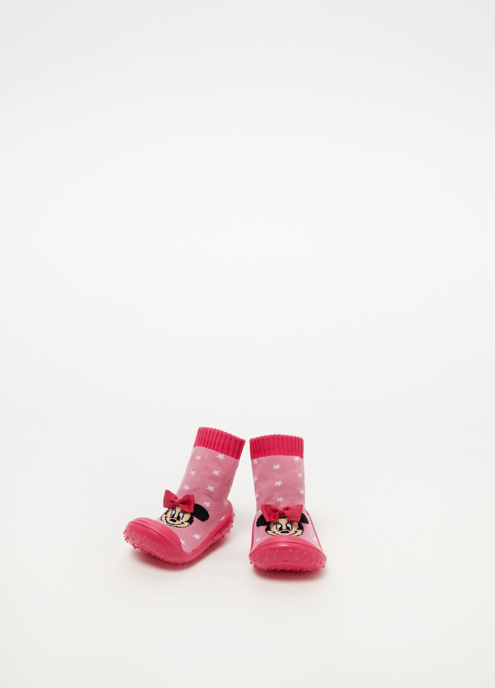 Shoes with bows and Minnie Mouse pattern