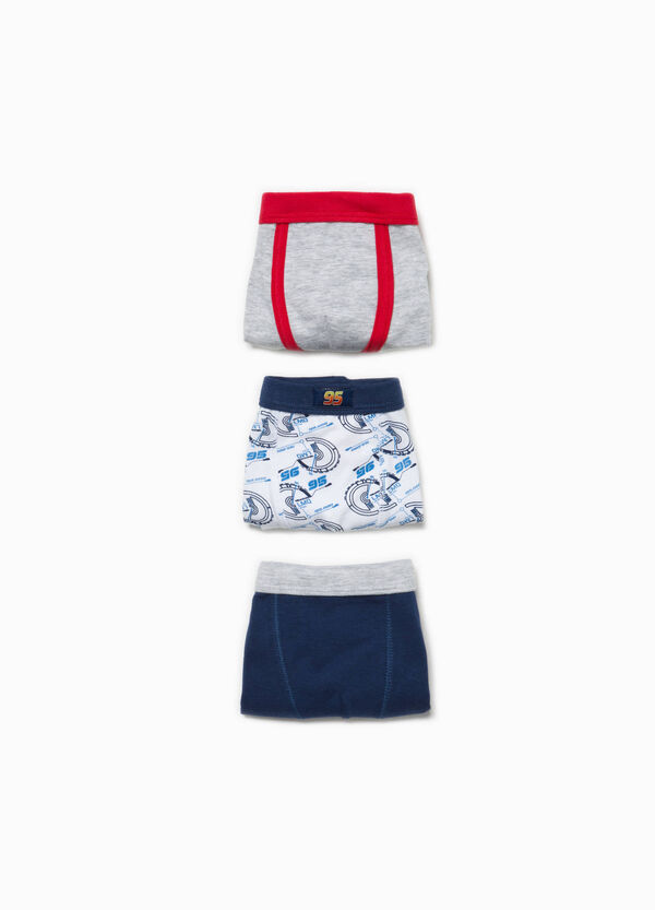 Three-pack solid colour and Cars patterned boxers | OVS