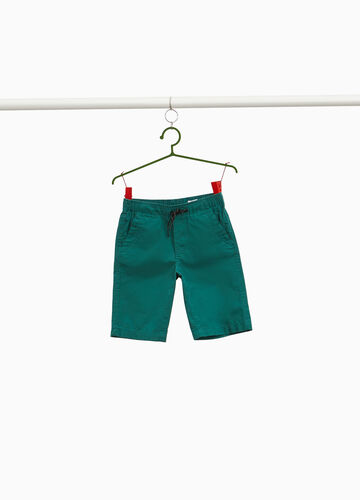 100% cotton poplin Bermuda shorts with drawstring