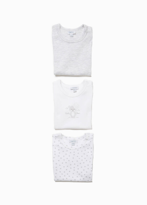 Three-pack Better Cotton solid colour and patterned bodysuits | OVS