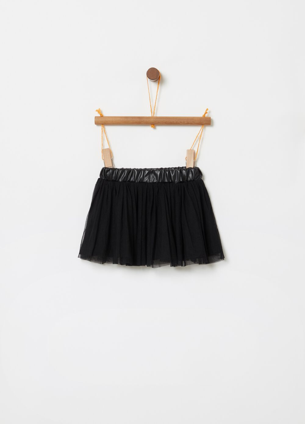 Tulle skirt with elasticated waist