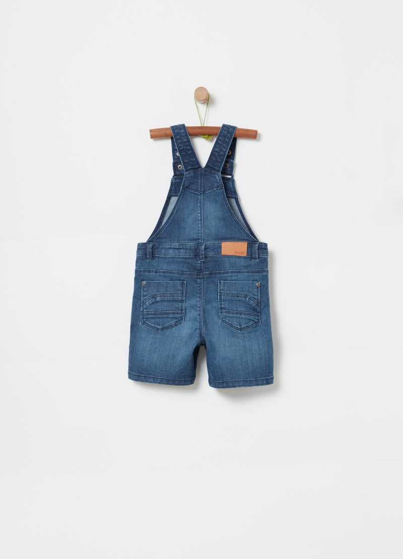 Short denim dungarees image number null