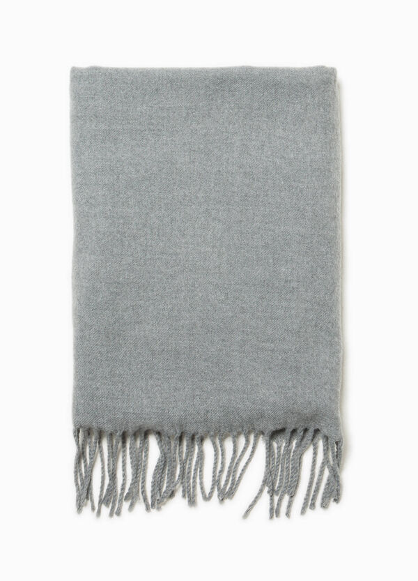 Solid colour pashmina with fringe   OVS