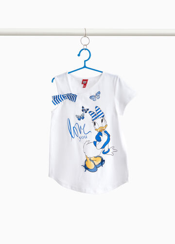 Stretch T-shirt with Daisy Duck print