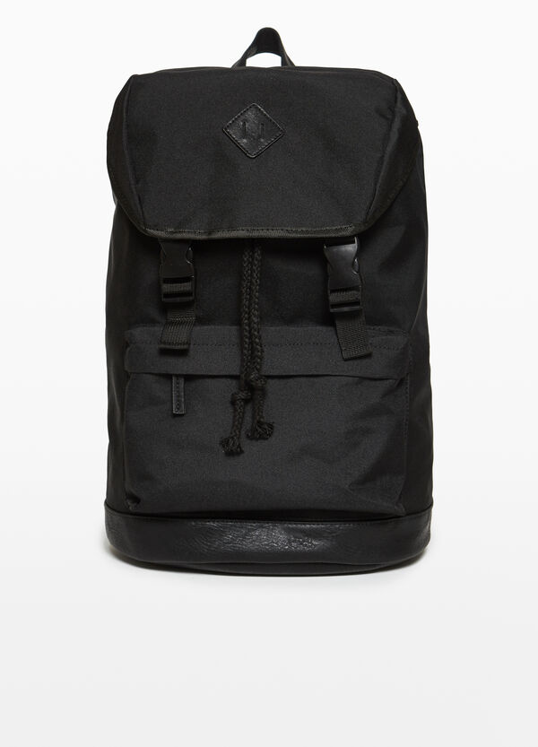 Backpack with shiny insert