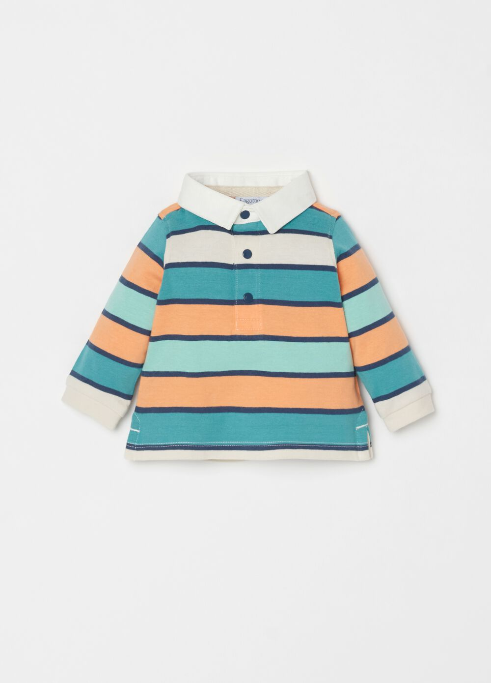 100% organic striped polo shirt