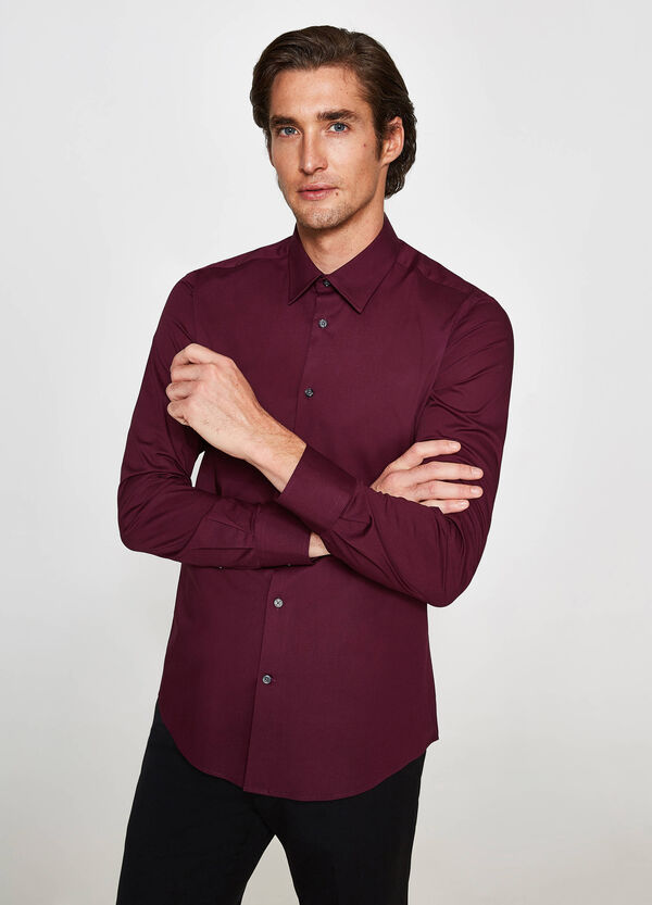 Camicia formale slim fit cotone stretch