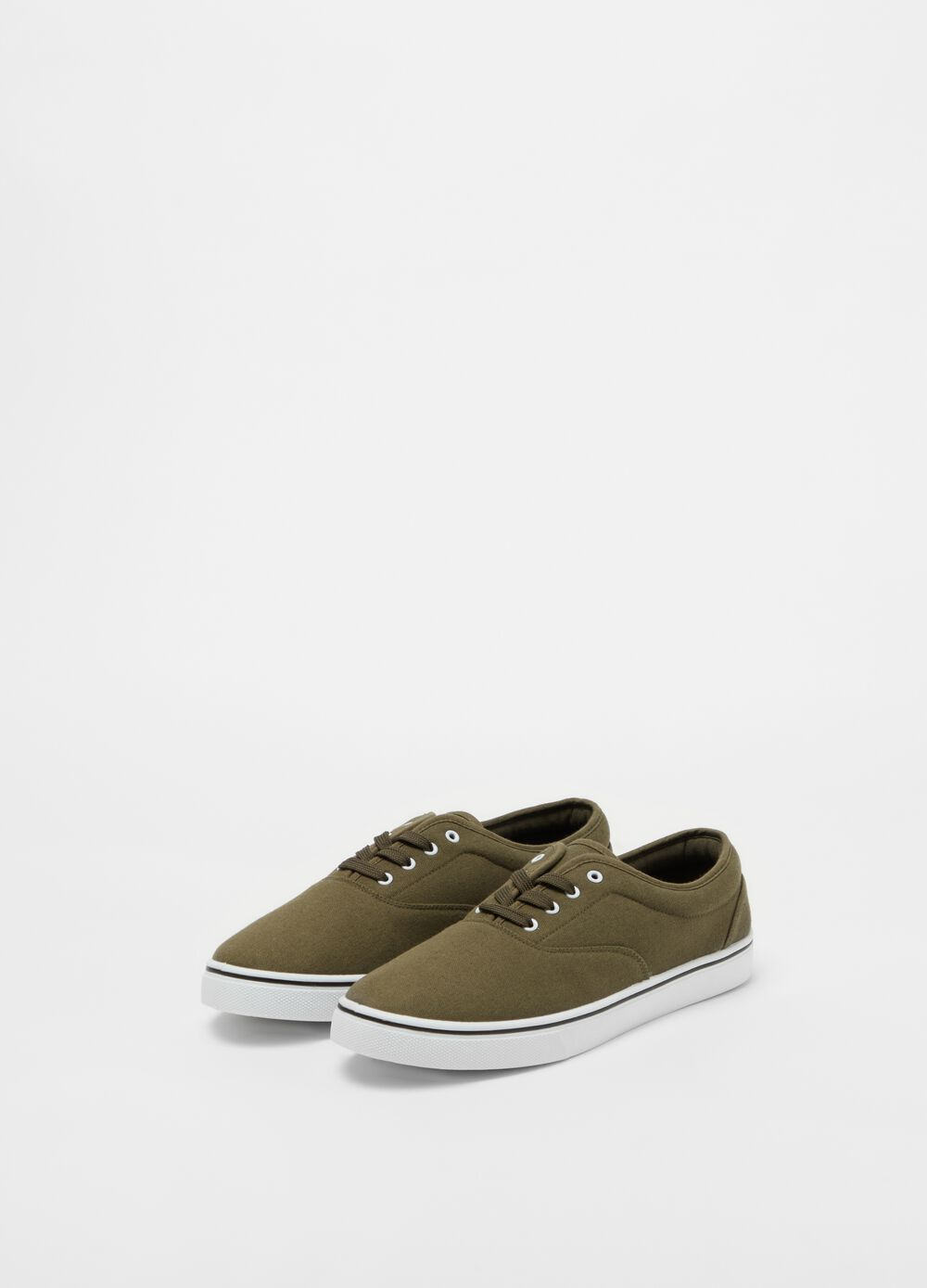Cotton lace-up sneakers