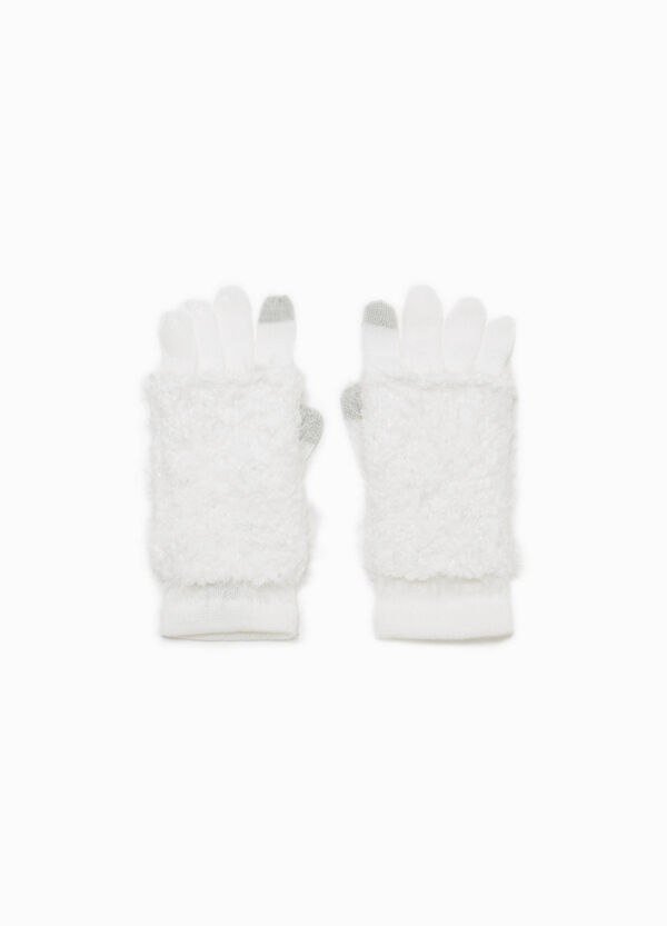 Knitted gloves with fur | OVS