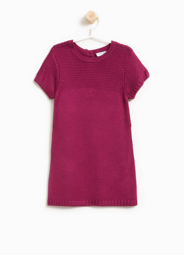 Viscose blend knitted dress