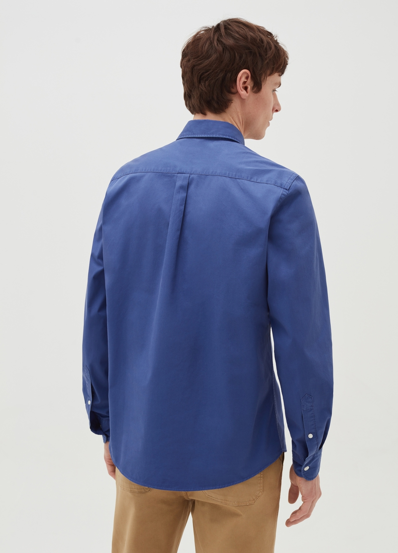 PIOMBO solid colour 100% cotton shirt image number null