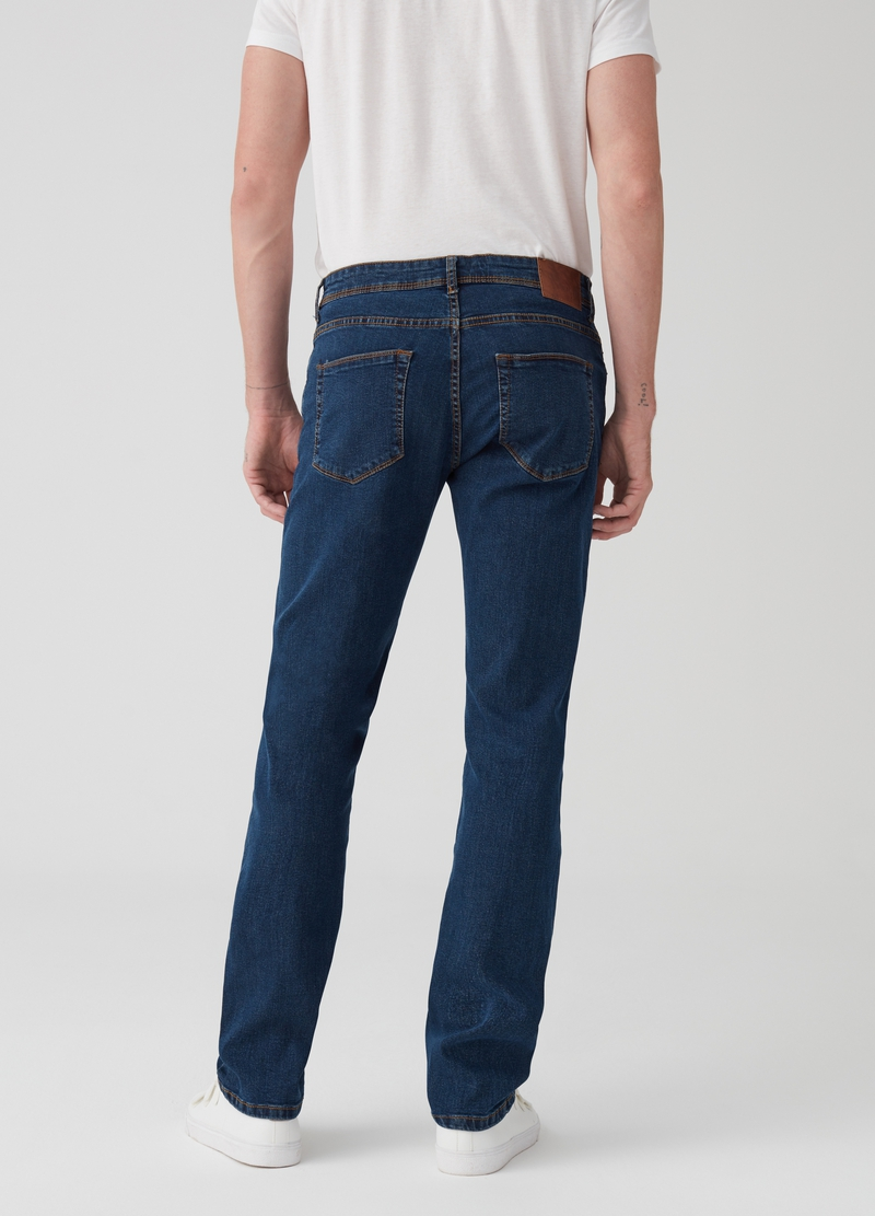 Regular-fit stretch jeans with five pockets image number null
