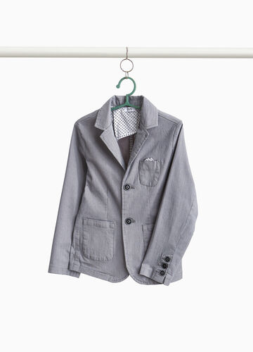 Two-button stretch patterned blazer