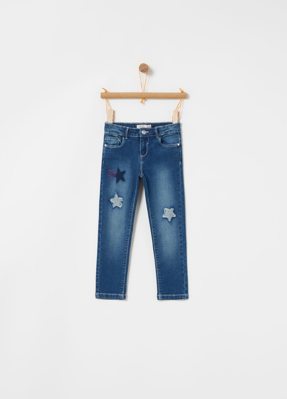 Stretch superskinny jeans with embroidery