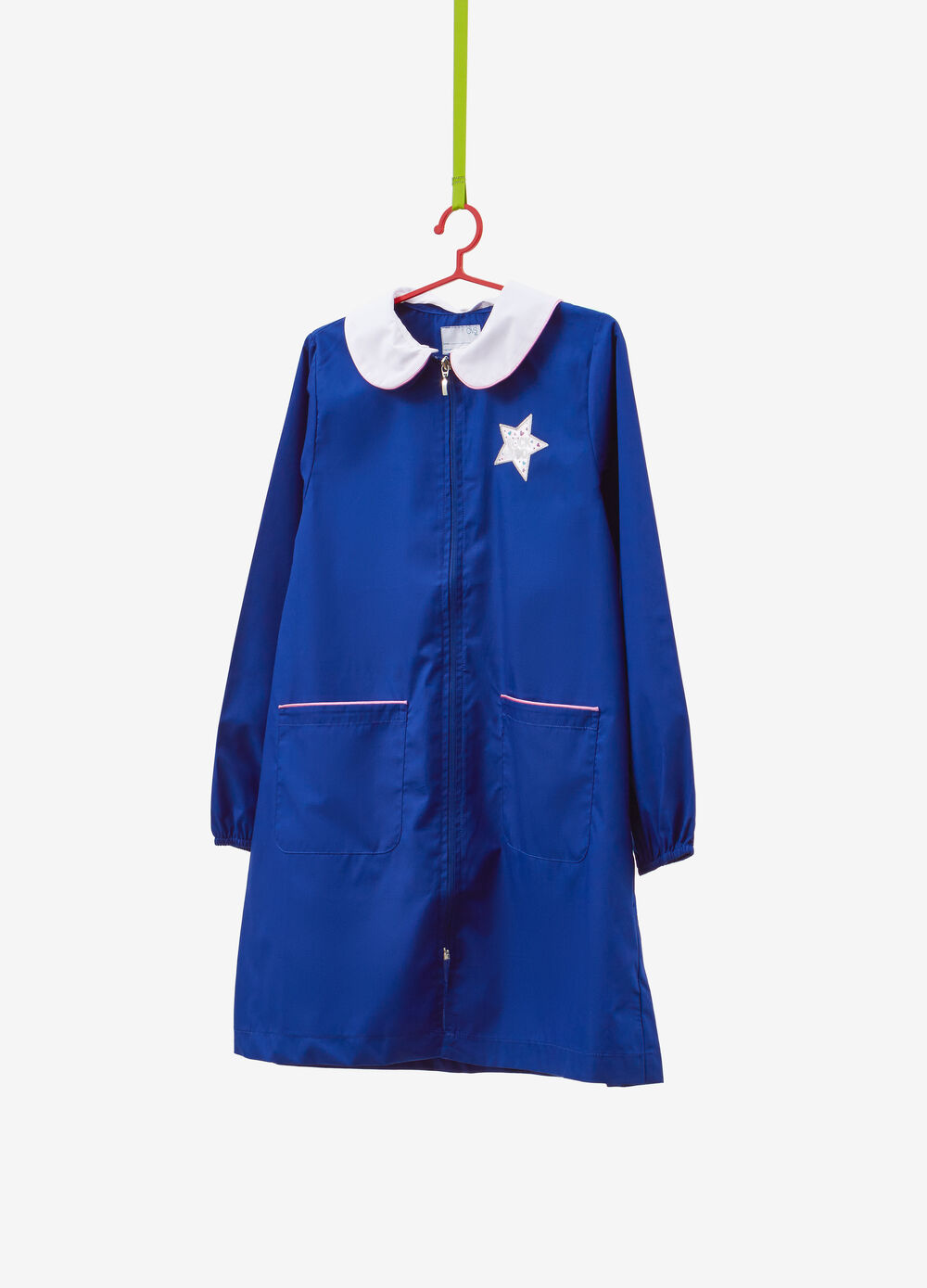 Cotton blend smock with star patch