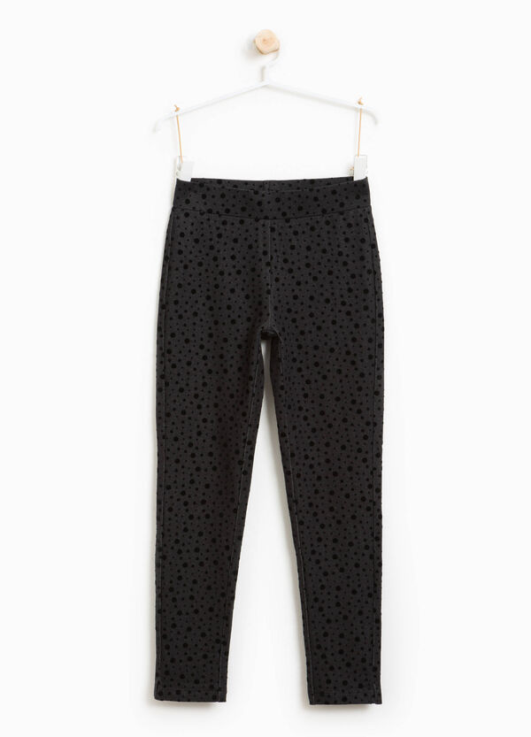 Jeggings misto cotone a pois | OVS
