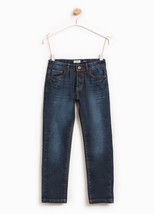 Used-effect stretch jeans with fading | OVS