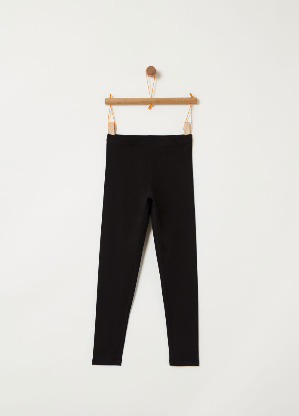 Solid colour heavy jersey leggings