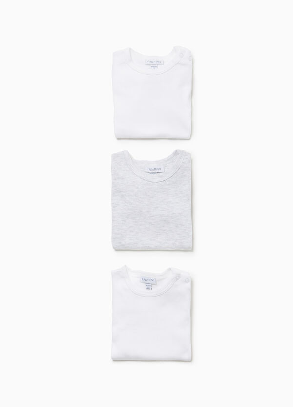 Three-pack bodysuits in 100% cotton