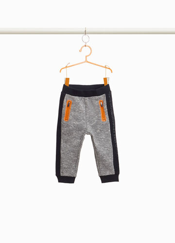 Mélange joggers with print