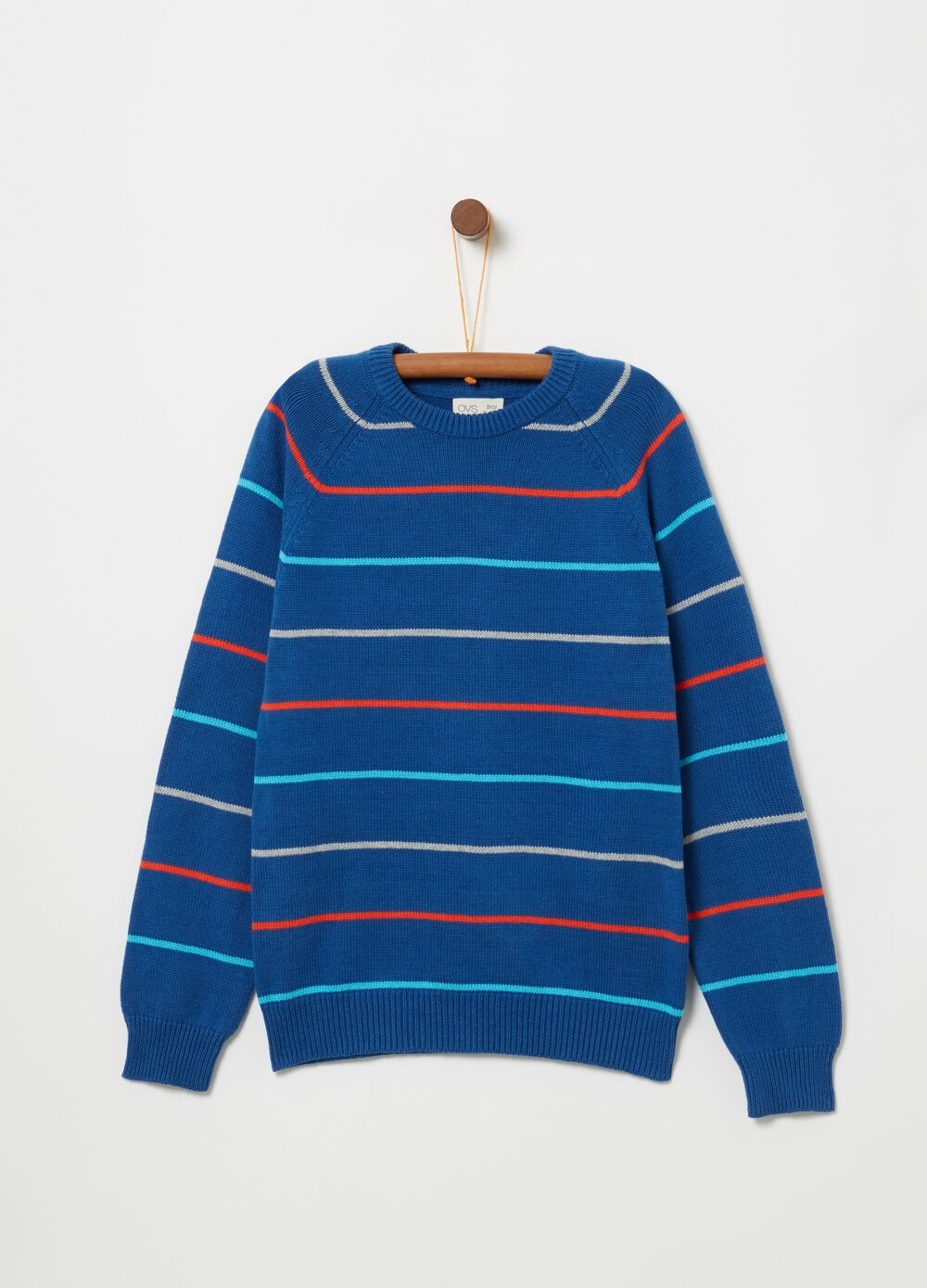 100% cotton top with stripes