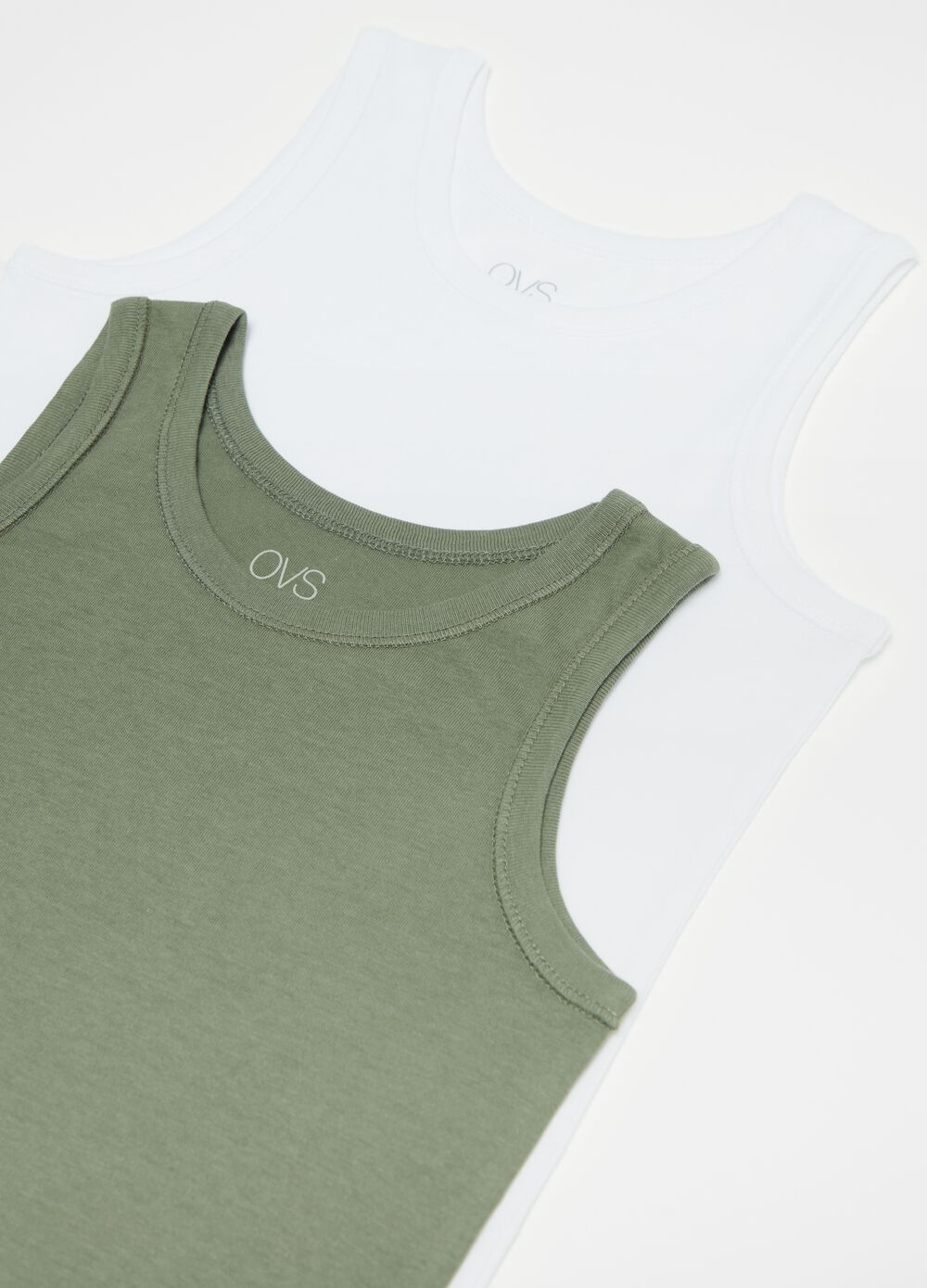 Two-pack 100% organic cotton under vests