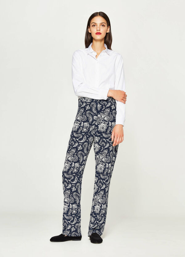 Trousers with all-over print | OVS