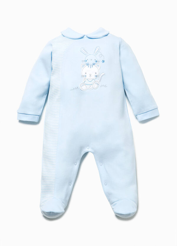 Onesie with striped pattern insert | OVS