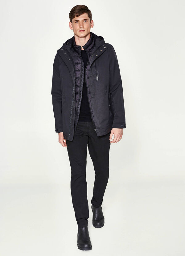 Cotton blend jacket with hood | OVS