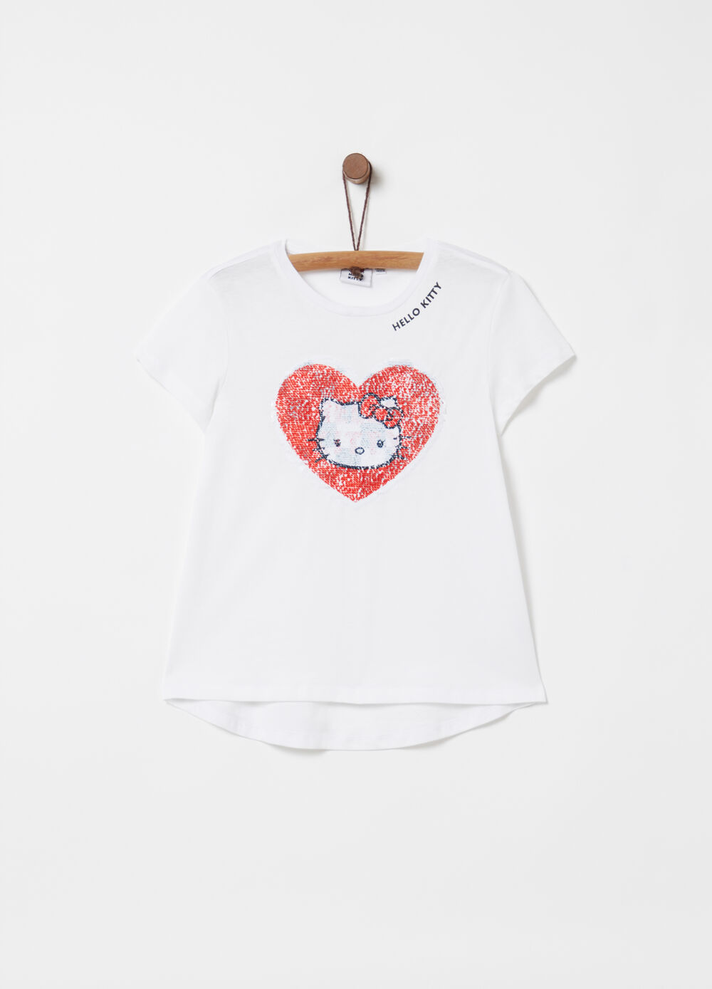 T-shirt stampa Hello Kitty con paillettes