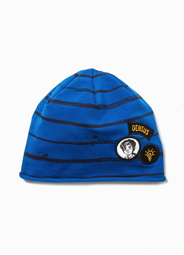 Beanie cap with Leo Da Vinci patches