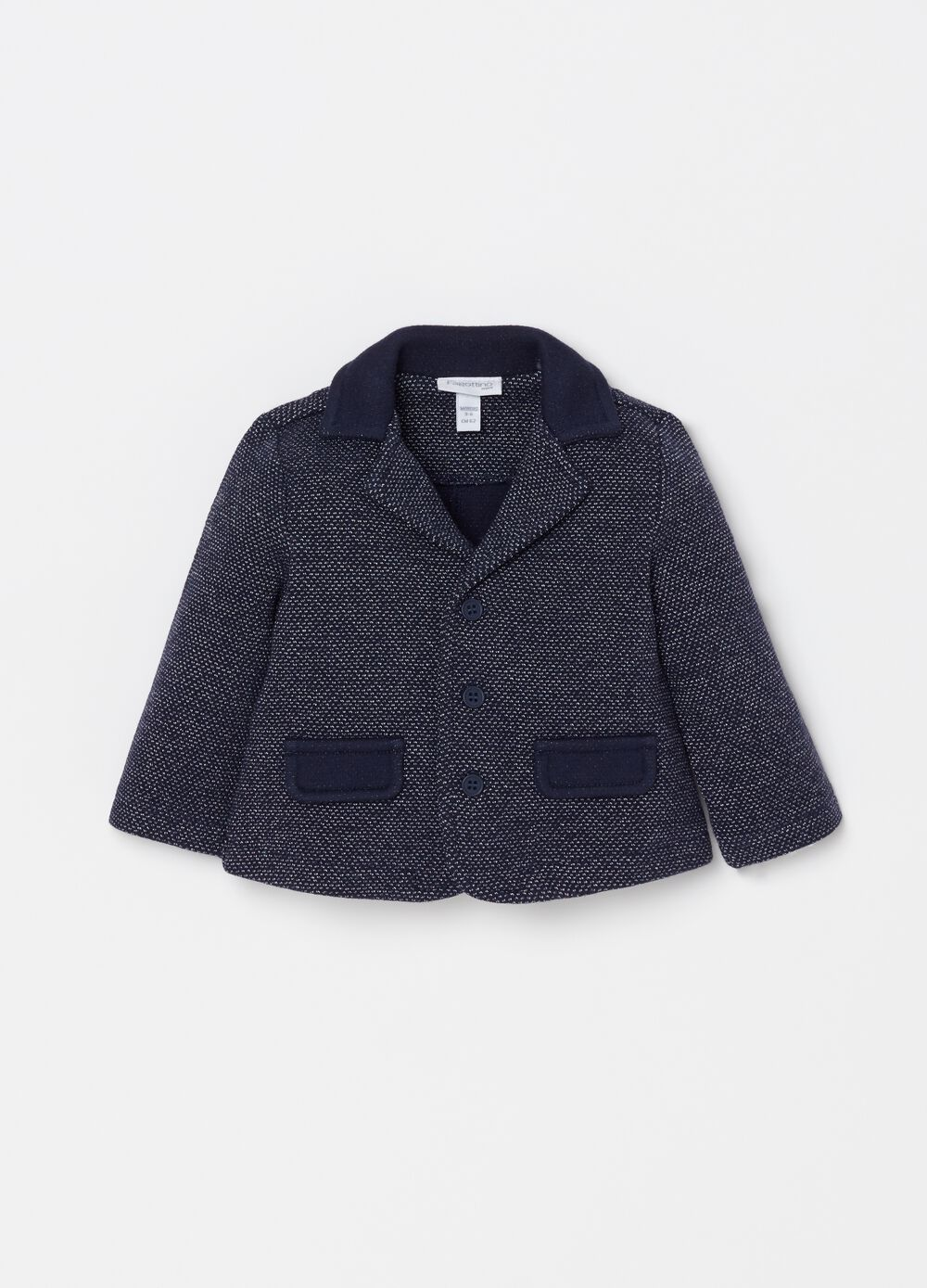 Jacket with jacquard weave and pockets
