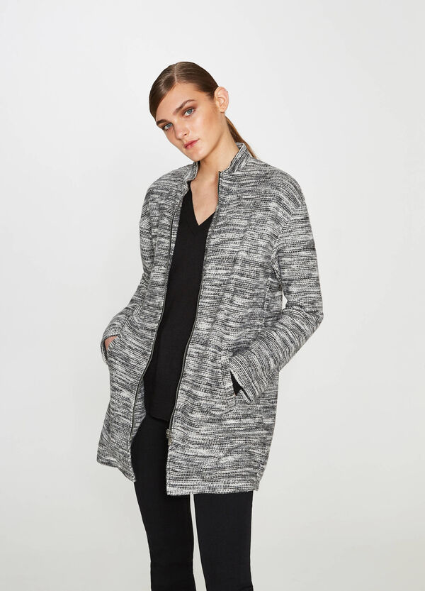 Coat in mélange cotton blend | OVS