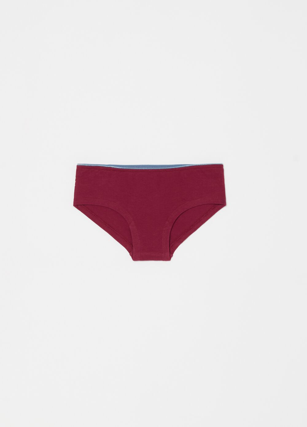 Stretch organic cotton French knickers with print