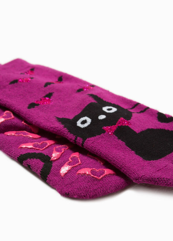 Slipper socks with cat embroidery | OVS