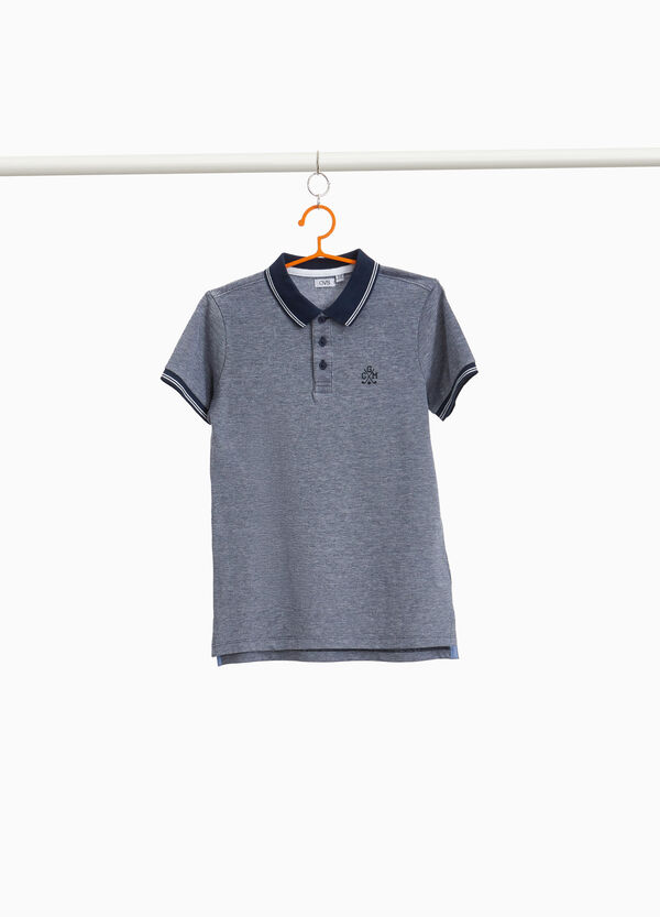 100% cotton polo shirt with embroidery