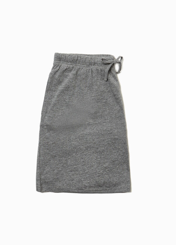 Cotton blend pyjama shorts