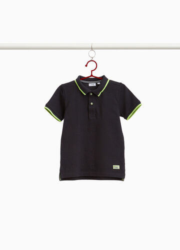 100% cotton polo shirt with trim