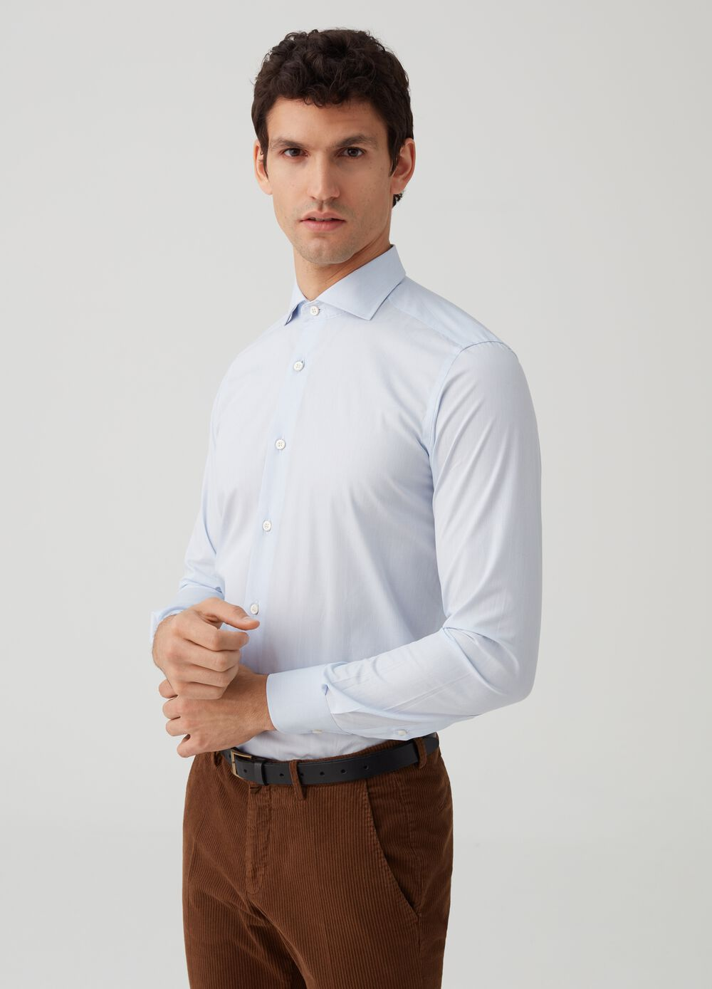 Rumford 100% cotton shirt with striped pattern