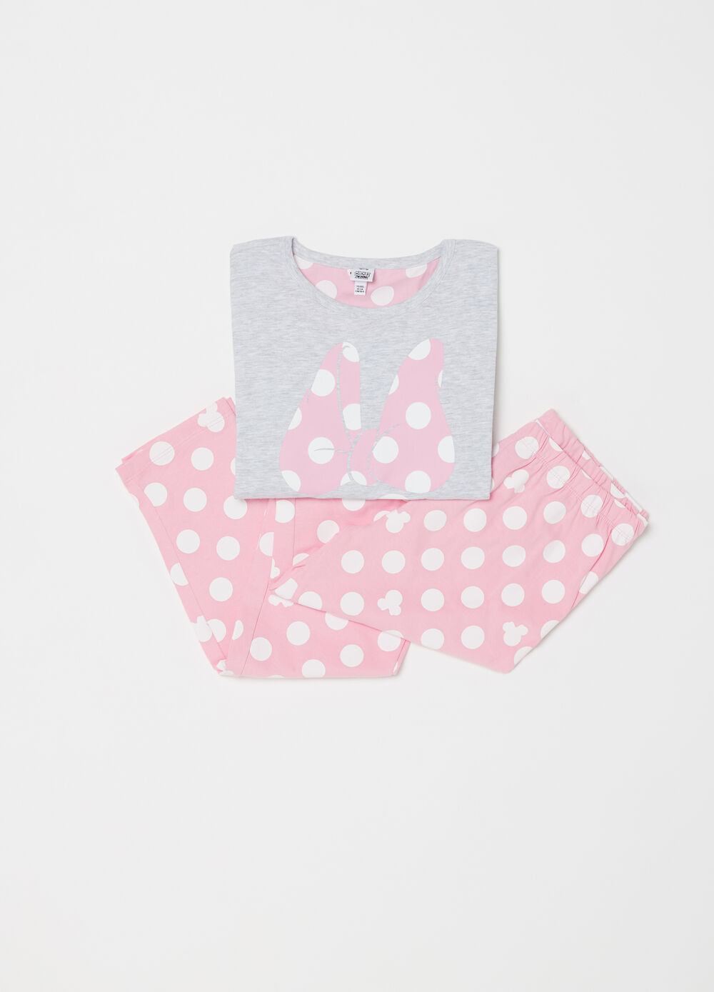 Full-length Disney Minnie Mouse pyjamas with polka dots