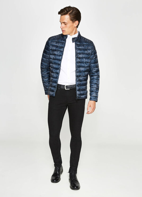 Patterned down jacket with zip | OVS
