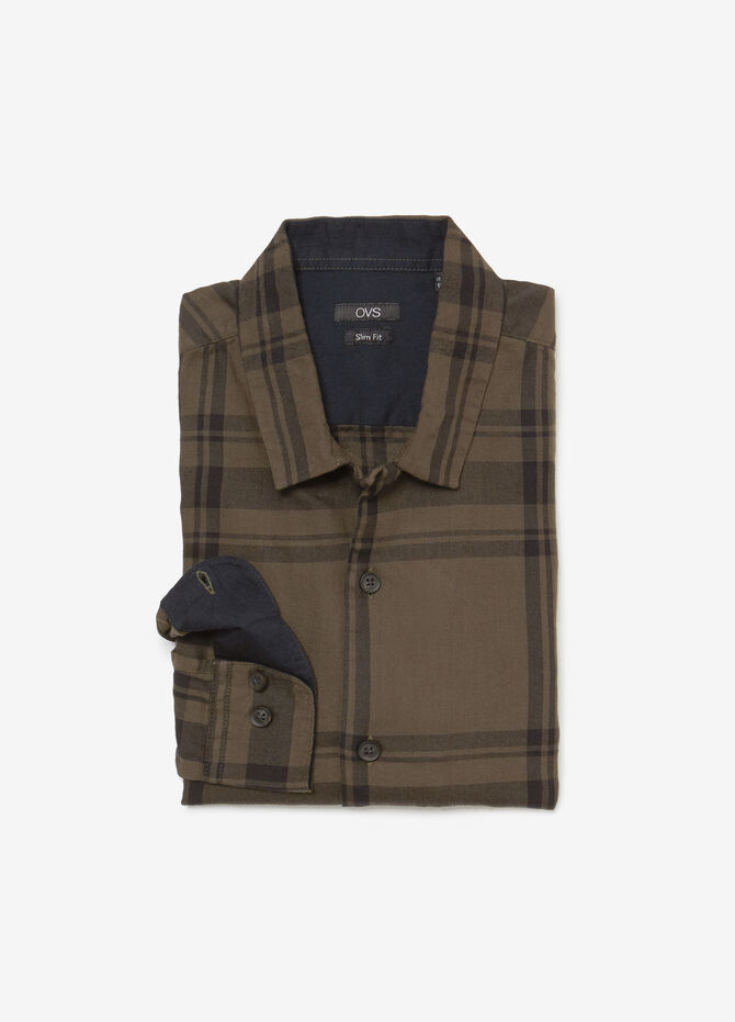 Casual slim-fit check shirt
