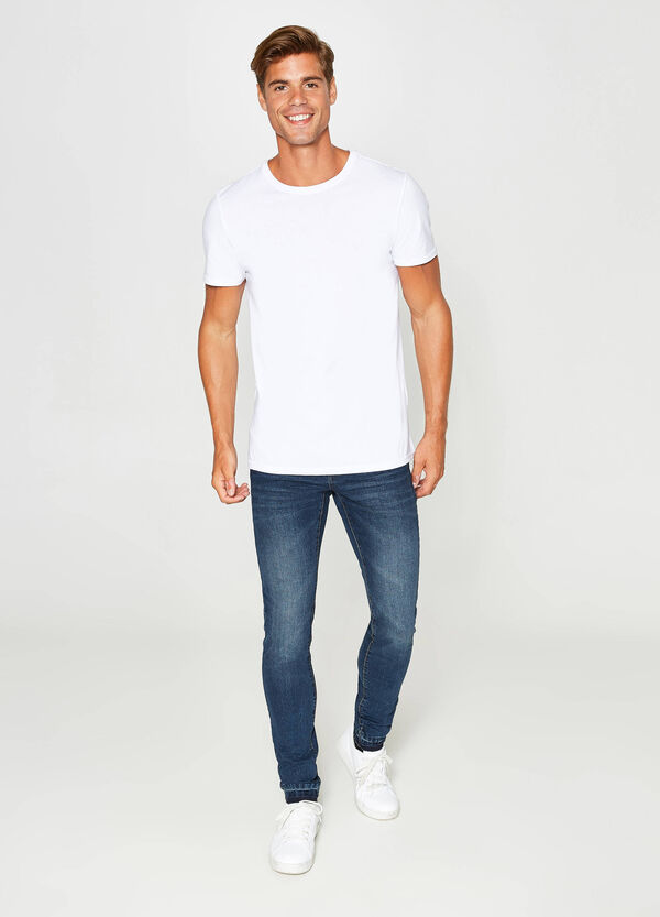 Washed and faded effect skinny fit stretch jeans | OVS