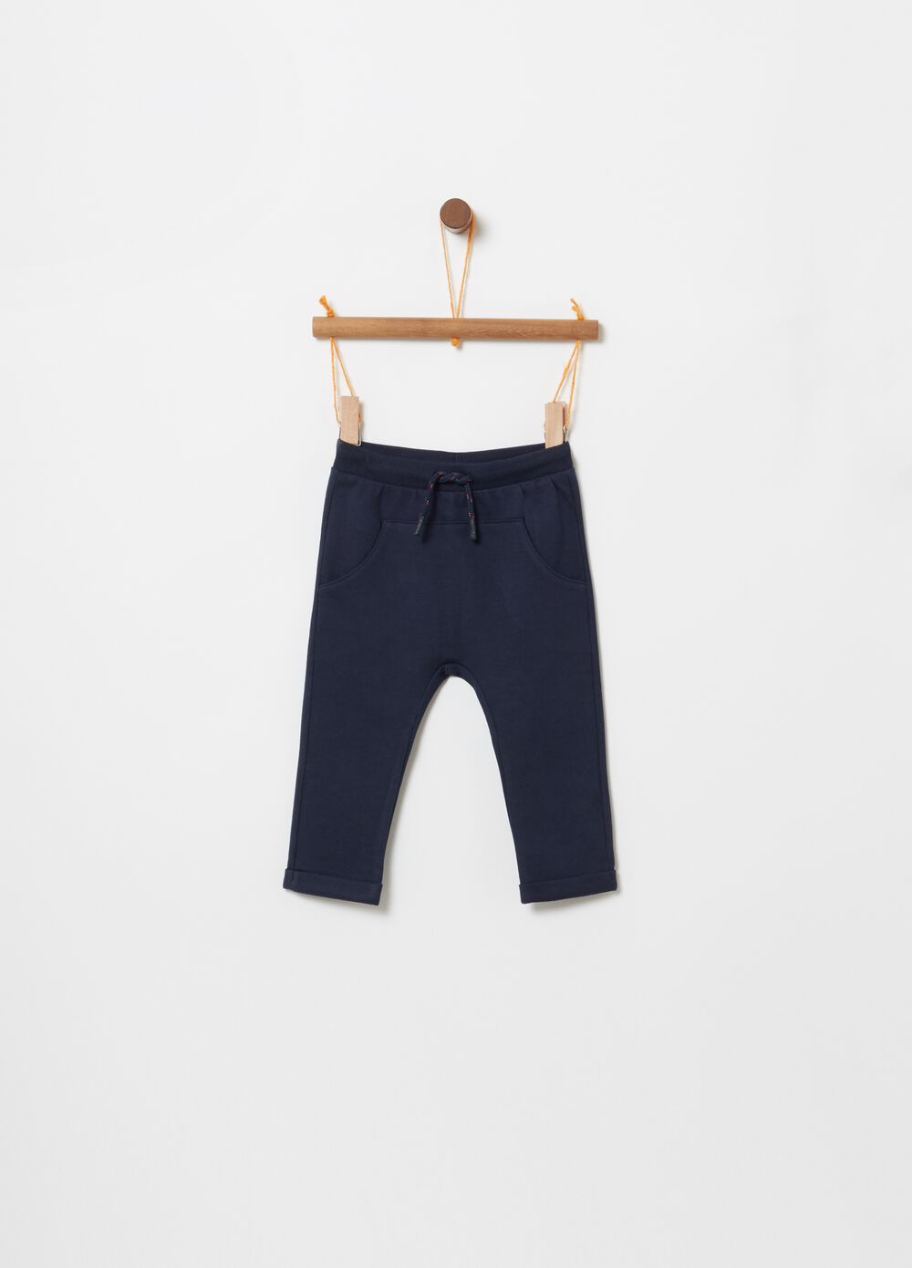 100% organic cotton French terry trousers