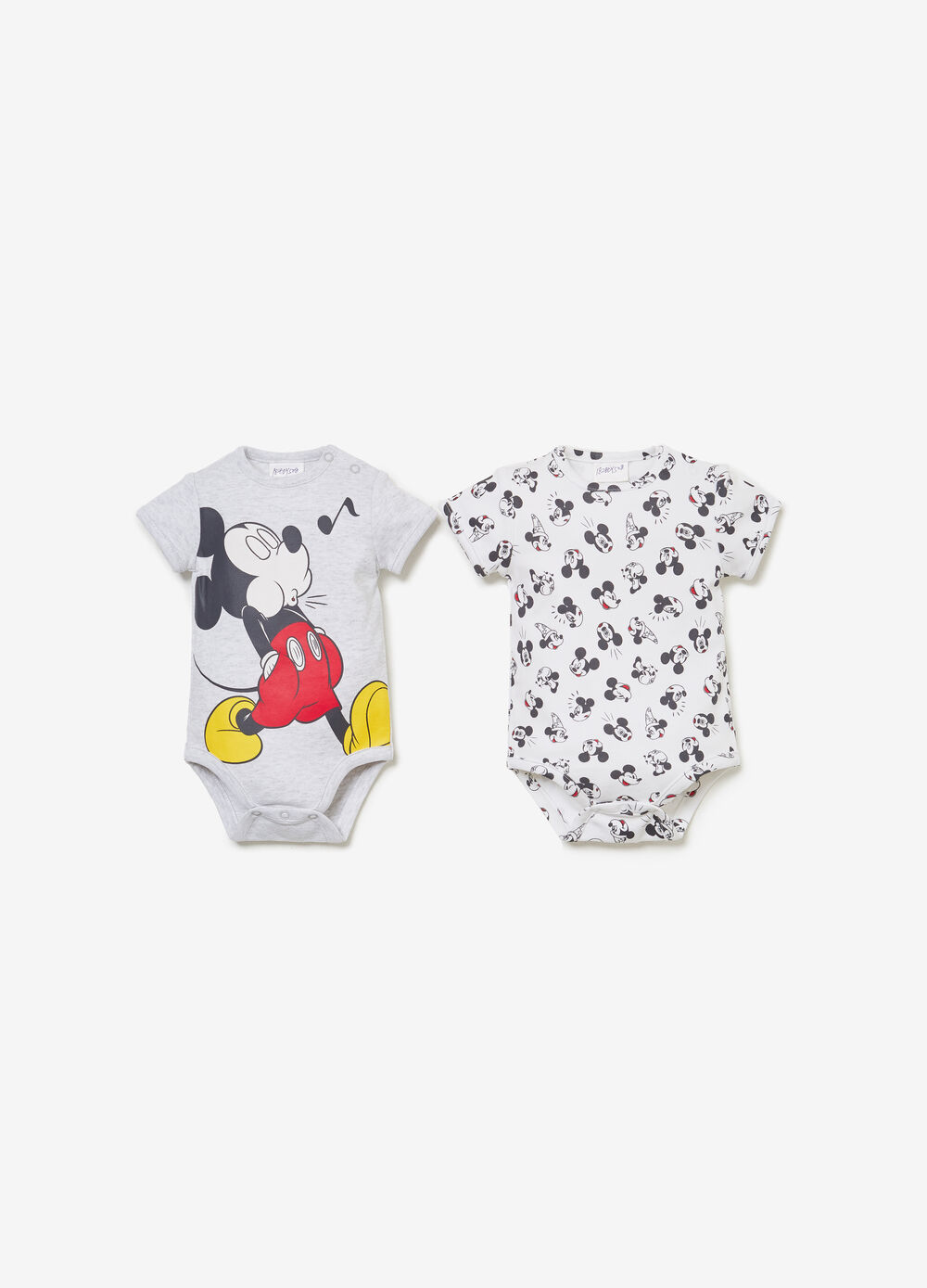 Two-pack Mickey Mouse bodysuits in BCI cotton