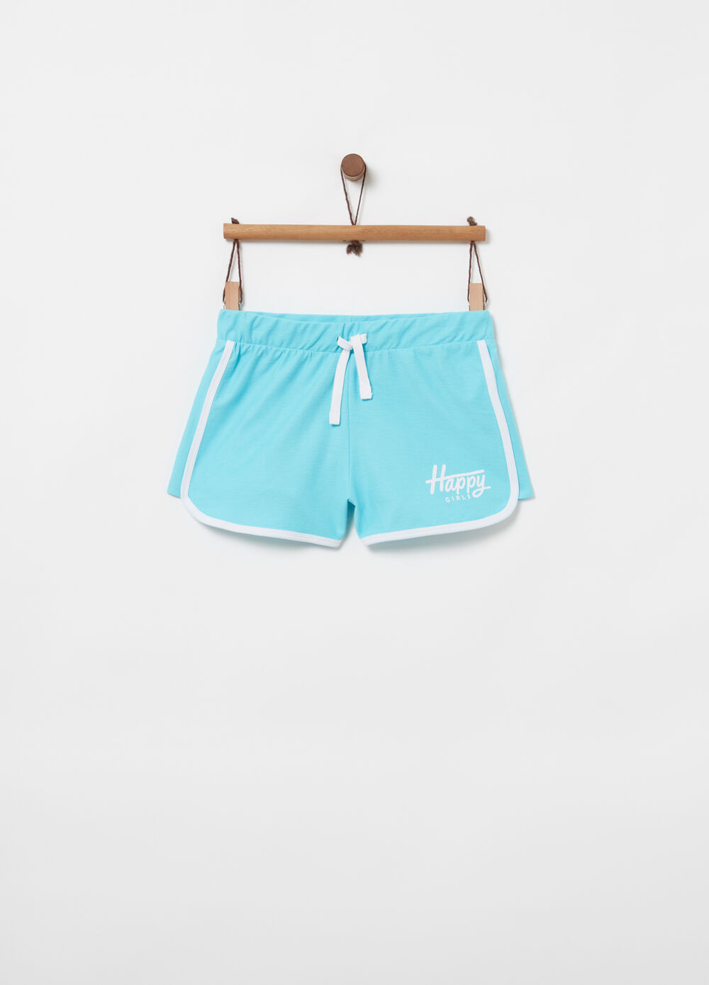 French terry shorts with elasticated waist and print