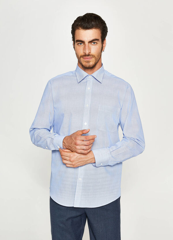 Solid colour, regular-fit formal shirt
